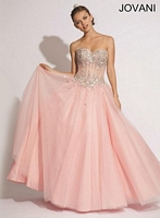 Jovani 88617 Corset Tulle Ball Gown image