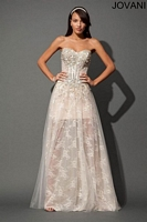 Jovani 88621 Embroidered Corset Evening Dress image