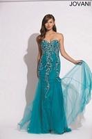 Jovani 88638 Beaded Embroidered Mermaid Dress image