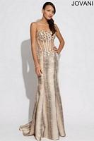 Jovani 88681 Sheer Bodice Mermaid Dress image