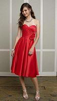 Size 10 Mori Lee Affairs Strapless Short Satin Bridesmaid Dress 887 image