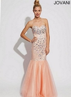 Jovani 89088 Tulle Mermaid Dress image