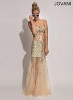 Jovani 89242 AB Stone Corset Formal Dress image