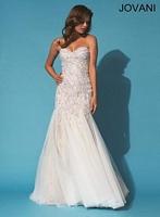 Jovani 89634 Mermaid Dress with Lace image