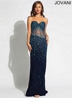 Jovani 89643 Formal Dress with Sheer Panels image