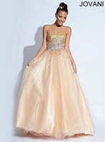 Jovani 896561 Beaded Tulle Ball Gown image