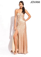 Jovani 89660 Formal Dress with Sexy Slit image