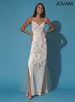 Jovani 89883 Formal Dress with Sheer Panels image