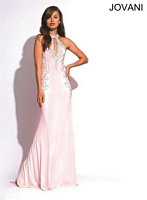 Jovani 89892 Halter Gown with Open Back image