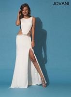 Jovani 89898 Sexy Cut Out Jersey Formal Dress image