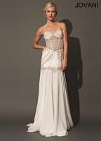 Jovani 89978 Embellished Chiffon Evening Dress image
