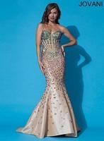 Jovani 90132 Colorful Embellished Mermaid Dress image