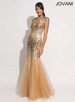 Jovani 90234 Plunging Neck Formal Dress image