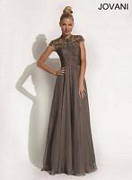 Jovani 90242 Empire Chiffon Evening Dress image
