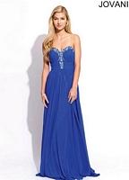 Jovani 90342 Empire Chiffon Formal Dress image