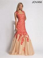 Jovani 90477 Sleeveless Lace Mermaid Dress image