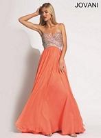 Jovani 90520 Empire Chiffon Evening Dress image