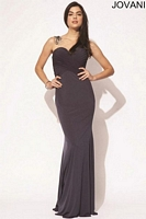 Jovani 90639 Jersey Formal Dress with Floral image