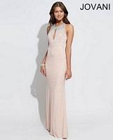 Jovani 90640 Keyhole Jersey Formal Dress image