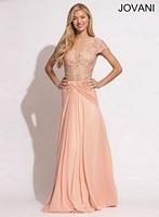 Jovani 90644 Ruched Chiffon Evening Dress image