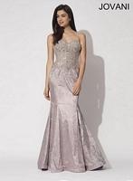 Jovani 90657 Exposed Corset Mermaid Dress image