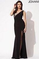Jovani 90670 Jersey Gown with Sexy Slit image
