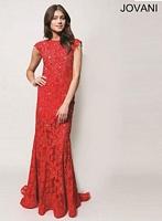 Jovani 90676 Sleeveless Lace Formal Dress image