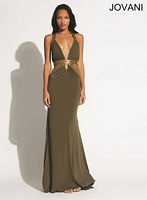 Jovani 90715 Sexy Plunging Neck  Formal Dress image