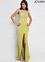 Jovani 90731 Sleeveless Plunging Neck Formal Dress image
