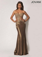 Jovani 90733 Gown with Sheer Panels image