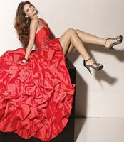 Paparazzi One Shoulder Silky Taffeta Prom Dress 91004 by Mori Lee image