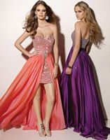 Paparazzi Prom Dress with Removable Overskirt 91009 by Mori Lee image