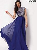 Jovani 91011 Empire Chiffon Formal Dress image