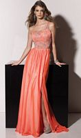 2012 Prom Dresses Paparazzi Chiffon Prom Dress 91050 by Mori Lee image