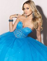Paparazzi Beaded Tulle Ball Gown Prom Dress 91071 by Mori Lee image