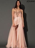 Jovani 91089 Empire Chiffon Evening Dress image