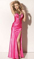Flaunt Long Prom Dress with High Slit 91104 by Mori Lee image