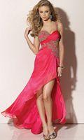 Flaunt Beaded Chiffon Prom Dress 91119 by Mori Lee image