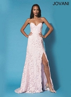 Jovani 91134 Lace Formal Dress with Sequins image