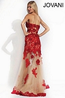 Jovani 91148 Gown with Sheer Skirt image