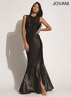 Jovani 91167 Sleeveless Gown with Sheer Panels image