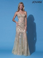 Jovani 91195 Formal Dress with Floral Embroidery image