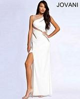 Jovani 91305 Jersey Formal Dress with High Slit image