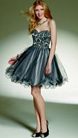 Sticks and Stones by Mori Lee Beaded Tulle Short Party Dress 9131 image