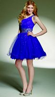 Mori Lee Sticks and Stones One Shoulder Short Tulle Party Dress 9134 image