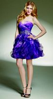 Sticks and Stones by Mori Lee Ombre Organza Short Party Dress 9135 image
