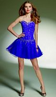 Sticks and Stones by Mori Lee Drop Waist Tulle Short Party Dress 9137 image
