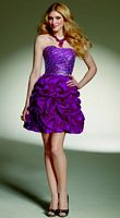 Mori Lee Sticks and Stones Short Dress with Ruffle Pickup Skirt  9138 image