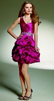 Sticks and Stones by Mori Lee One Shoulder Short Pickup Dress 9141 image