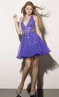 Sticks and Stones Short V Neck Chiffon Prom Dress 9170 image